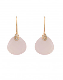 Pink Chalcedony Drop Earring