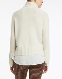 Brochu Walker - Jolie Ivory Wool Cashmere Layered Turtleneck