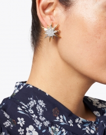 Kenneth Jay Lane - Gold and Crystal Star Stud Earrings