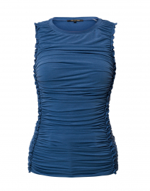 Sariyah Blue Ruched Stretch Top