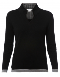 Black Cotton Sweater
