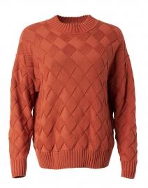 Auburn Orange Cotton Basketweave Sweater