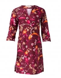 Megan Merlot Floral Print Dress