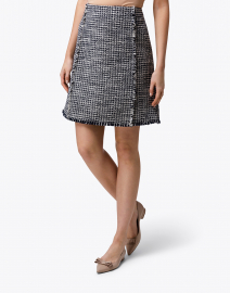 BOSS Hugo Boss - Vomanda Navy and White Tweed Skirt