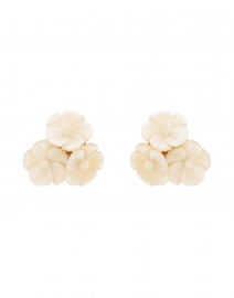 Tallulah Mother of Pearl Flower Stud Earrings
