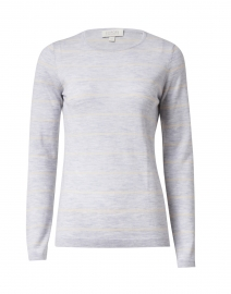 Kinross - Grey and Birch Striped Cashmere Sweater