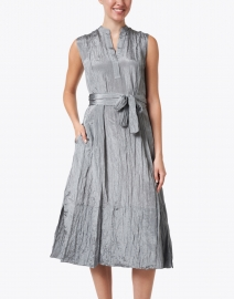 Vince - Slate Blue Textured Popover Dress