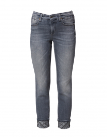 Pina Dark Grey Cuffed Cotton Jean
