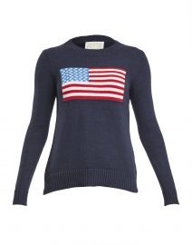 Navy American Flag Cotton Intarsia Sweater