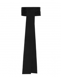 Sara Roka - Black Wide Satin Ribbed Belt