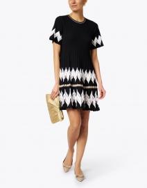 D.Exterior - Black Chevron Knit Dress
