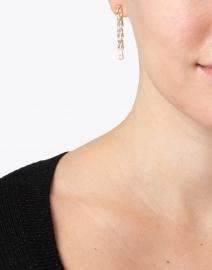 FALLON - Gold Draped Crystal Baguette Earrings