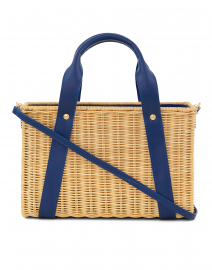 Daisy Blue Wicker Bag
