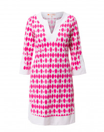 Holly Berry Circle Ikat Printed Stretch Dress