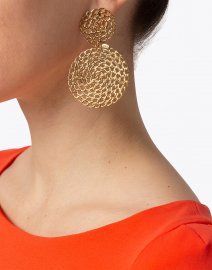 Gas Bijoux - Onde Gourmette Gold Drop Earring