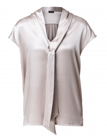 Nancy Quartz Grey Silk Satin Top