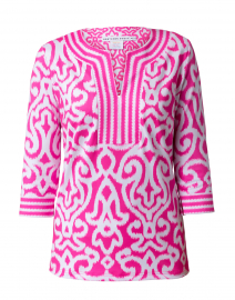 Bright Pink Mosaic Printed Tunic