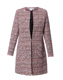 Edge to Edge Pink and Red Tweed Jacket