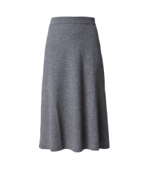 Dark Grey Wool Cashmere Knit Skirt
