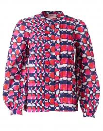 Jennifer Pink and Blue Geo Printed Cotton Shirt
