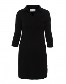 Black Henley Bamboo-Cotton Dress