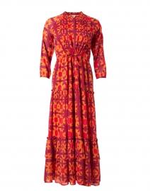 Bazaar Pink and Orange Shibori Cotton Voile Dress