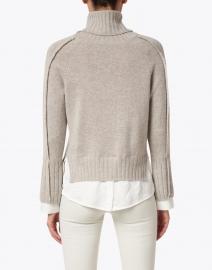 Brochu Walker - Jolie Light Beige Wool Cashmere Layered Turtleneck