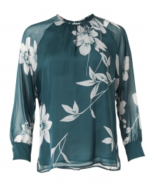 Palco Green Floral Silk Top