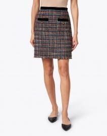 L.K. Bennett - Lucy Multi Tweed and Black Trim Skirt