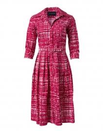 Audrey Pink Printed Stretch Cotton Dress