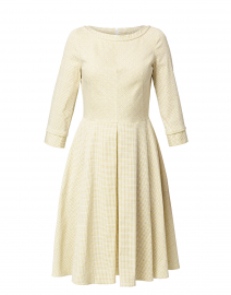 Yellow and Beige Dot Dress