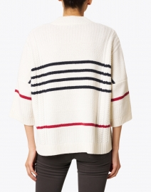 Saint James - Chicago Ecru, Navy, and Red Striped Sweater