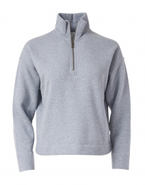 Light Blue Cotton Half Zip Pullover