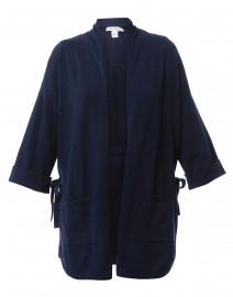 Navy Cotton Open Cardigan