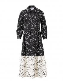 Black and White Polka Dot Cotton Dress