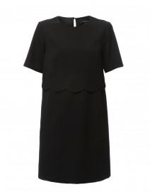 Rosa Black Scalloped Gabardine Dress