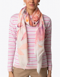 Tilo - Andar Pink Floral Print Modal and Cotton Scarf
