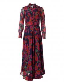 Rica Pink and Orange Floral Silk Georgette Shirt Dress