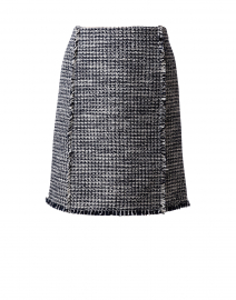 Vomanda Navy and White Tweed Skirt