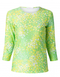 Lime Florettes Cotton Jersey Tee
