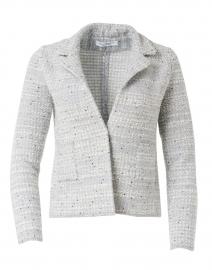 Frida White, Grey, and Silver Knit Jacket