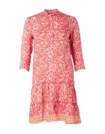 Popover Orange and Pink Floral Shirt Dress