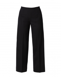 Amandine Black Stretch Wool Wide Leg Ankle Pant