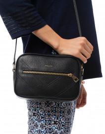 DeMellier - Manhattan Navy Pebbled Leather Cross-Body Bag