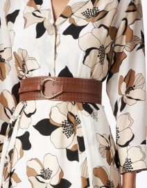 Max Mara Studio - Bolivia Brown Leather Perforated Belt