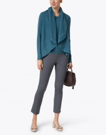 Repeat Cashmere - Lake Blue Cashmere Circle Cardigan