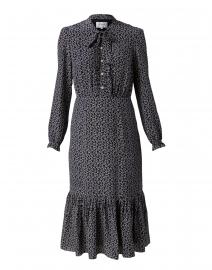 Mimosa Navy Printed Silk Dress