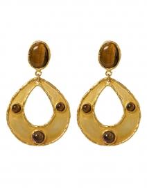 Thalita Tiger Eye Encrusted Drop Earrings