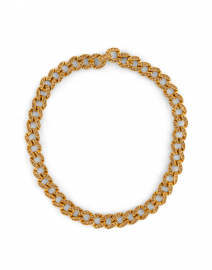 Gold Topaz Pave Link Necklace