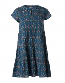 Pamela Navy Hampton Floral Print Cotton Dress